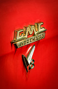 Featured Art - 1957 GMC Hydramatic V8 Emblem by Jill Reger