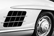 Gullwing Posters - 1957 Mercedes-Benz 300 SL Gullwing Wheel Emblem Poster by Jill Reger
