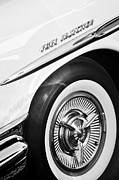 Bonneville Images Prints - 1957 Pontiac Bonneville Wheel Print by Jill Reger
