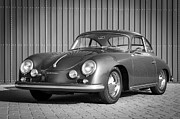 Black And White Photographs Metal Prints - 1957 Porsche 1600 Super Metal Print by Jill Reger