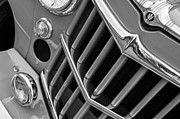Wagon Framed Prints - 1957 Willys Jeep 6-226 Wagon Grille Emblem Framed Print by Jill Reger
