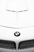 Bmw Vintage Cars Prints - 1958 BMW 507 Roadster Hood Emblem Print by Jill Reger