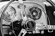 Tv Photos - 1958 Fiat 1200 TV Sportsman Roadster Steering Wheel by Jill Reger