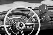 Steering Posters - 1958 Ford Fairlane Steering Wheel Poster by Jill Reger