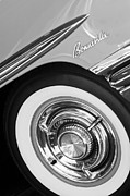 Bonneville Images Prints - 1958 Pontiac Bonneville Wheel Emblem Print by Jill Reger
