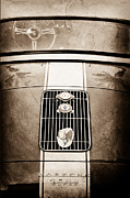 Rear Posters - 1958 Porsche 356 1600 Super Speedster Rear Emblems Poster by Jill Reger