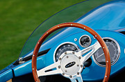 Racing Car Photographs Posters - 1959 Devin SS Steering Wheel Poster by Jill Reger