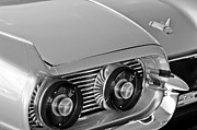 Door Photos Framed Prints - 1959 Ford Thunderbird 2 Door Hardtop Taillights Emblem Framed Print by Jill Reger