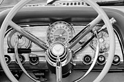 Thunderbird Photos - 1959 Ford Thunderbird Convertible Steering Wheel by Jill Reger