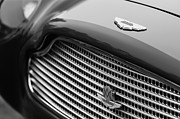Beach Photographs Prints - 1960 Aston Martin DB4 GT Coupe Grille Emblem Print by Jill Reger