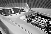 1960 Prints - 1960 Chevrolet Corvette Custom Engine Print by Jill Reger