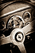 1960 Photos - 1960 Ferrari 250 GT Cabriolet Pininfarina Series II Steering Wheel Emblem by Jill Reger