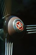 Delivery Photos - 1960 Morris Minor Panel Delivery Truck Steering Wheel Emblem by Jill Reger
