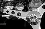 Steering Prints - 1962 Chevrolet Corvette Convertible Steering Wheel Print by Jill Reger