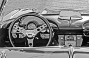 Steering Framed Prints - 1962 Chevrolet Corvette Steering Wheel Framed Print by Jill Reger