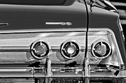 1962 Framed Prints - 1962 Chevrolet Impala SS Taillight Emblem Framed Print by Jill Reger