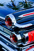 Taillights Framed Prints - 1962 Dodge Polara 500 Taillights Framed Print by Jill Reger