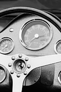 1962 Photos - 1962 Ferrari 196 SP Dino Fantuzzi Spyder Steering Wheel Emblem by Jill Reger