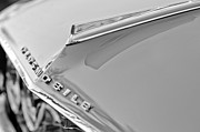 Black And White Photos Photos - 1962 Oldsmobile Hood Ornament and Emblem by Jill Reger