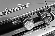 Black And White Photos Photos - 1962 Plymouth Fury Taillights and Emblem by Jill Reger