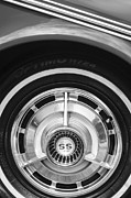 Muscle Cars Photos - 1963 Chevrolet SS Convertible Wheel Emblem by Jill Reger