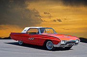Family Car Framed Prints - 1963 Ford Thunderbird Framed Print by Dave Koontz