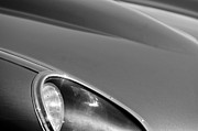 Headlight Framed Prints - 1963 Jaguar XKE Roadster Headlight Framed Print by Jill Reger
