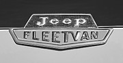 Jeep Framed Prints - 1963 Jeep Fleetwood Emblem Framed Print by Jill Reger