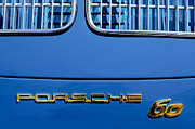 Classic Porsche 356 Photos - 1963 Porsche 356 B 1600 Coupe by Karman Rear Emblem by Jill Reger