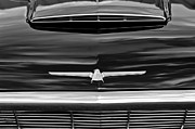 Thunderbird Photos - 1964 Ford Thunderbird Hood Emblem by Jill Reger