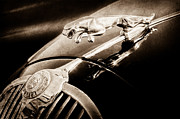Collector Hood Ornament Prints - 1964 Jaguar MK2 Saloon Hood Ornament and Emblem Print by Jill Reger