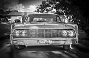 Cruiser Framed Prints - 1964 Lincoln Continental Convertible BW Framed Print by Rich Franco
