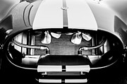 Black And White Photos Prints - 1965 Shelby Cobra Grille Print by Jill Reger