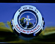 Auto Photography Framed Prints - 1965 Shelby prototype Ford Mustang Emblem Framed Print by Jill Reger