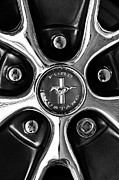 Muscle Photo Metal Prints - 1966 Ford Mustang GT Wheel Emblem Metal Print by Jill Reger