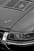Classic Porsche 911 Photos - 1966 Porsche 911 SWB Coupe Taillight Emblem by Jill Reger