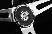 Shelby Cobra Prints - 1966 Shelby Cobra 427 Steering Wheel Emblem Print by Jill Reger