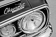 1967 Photos - 1967 Chevrolet Camaro SS Head Light Emblem by Jill Reger