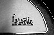 Glove Box Prints - 1967 Chevrolet Corvette Glove Box Emblem Print by Jill Reger