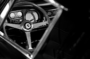 Steering Wheel Framed Prints - 1967 Ferrari 275 GTB 4 Steering Wheel Emblem Framed Print by Jill Reger