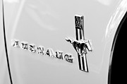 1967 Prints - 1967 Ford Mustang Side Emblem Print by Jill Reger