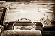 Steering Prints - 1967 Lincoln Continental Steering Wheel Print by Jill Reger