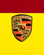 Car Emblem Prints - 1967 Porsche 911 Factory Race Car Emblem Print by Jill Reger