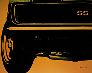 Car Drawings Posters - 1968 Camero SS Poster by Bob Orsillo