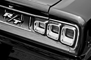 Muscle Cars Photos - 1968 Dodge Coronet RT Hemi Convertible Taillight Emblem by Jill Reger