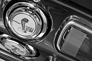 Black And White Photos Photos - 1968 Ford Mustang - Shelby Cobra GT 350 Taillight and Gas Cap by Jill Reger
