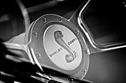 Fastback Posters - 1968 Ford Shelby Cobra Mustang Fastback Steering Wheel Poster by Jill Reger