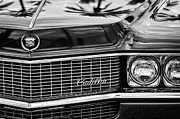 Black And White Photos Prints - 1969 Cadillac Eldorado Grille Print by Jill Reger