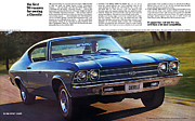 V8 Chevelle Posters - 1969 Chevelle SS 396 Poster by Digital Repro Depot