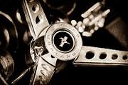 1969 Ford Mustang Mach 1 Steering Wheel Print by Jill Reger